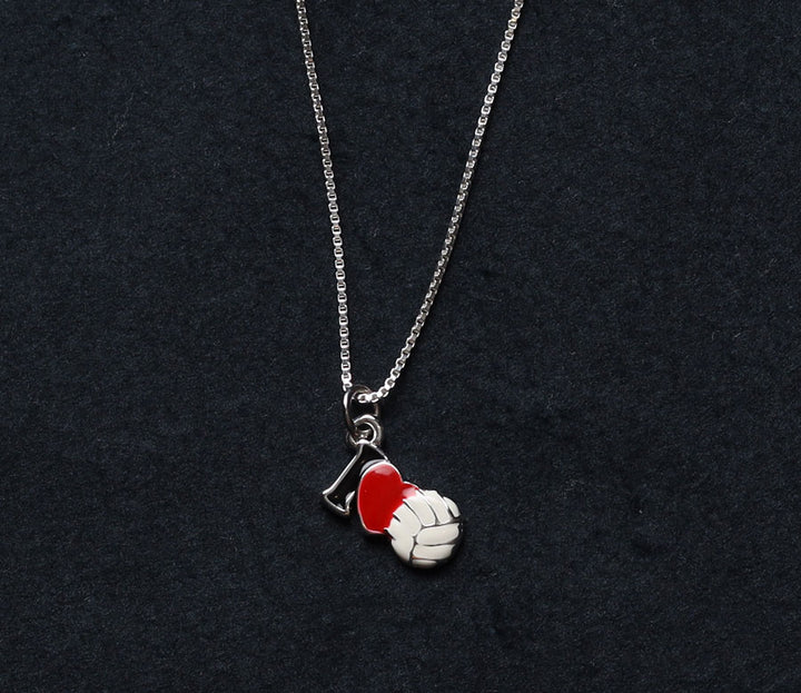I heart volleyball charm on sterling silver necklace