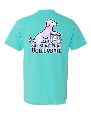 SIT STAY PLAY Volleyball T-shirt