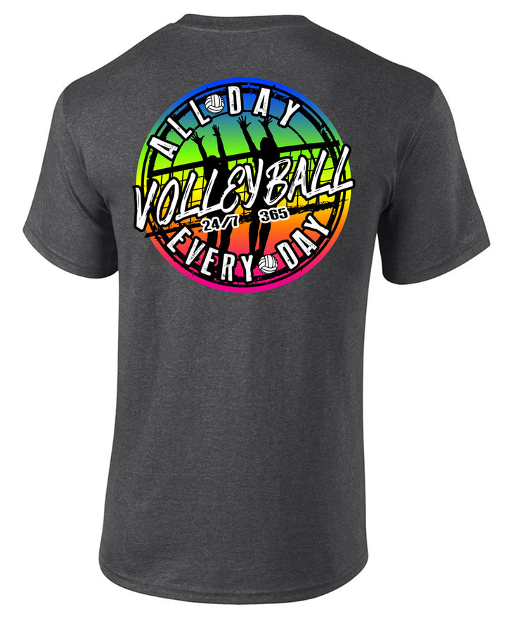 volleyball all day every day short sleeve shirt