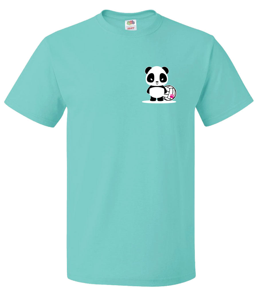 panda volleyball beast short sleeve tee front