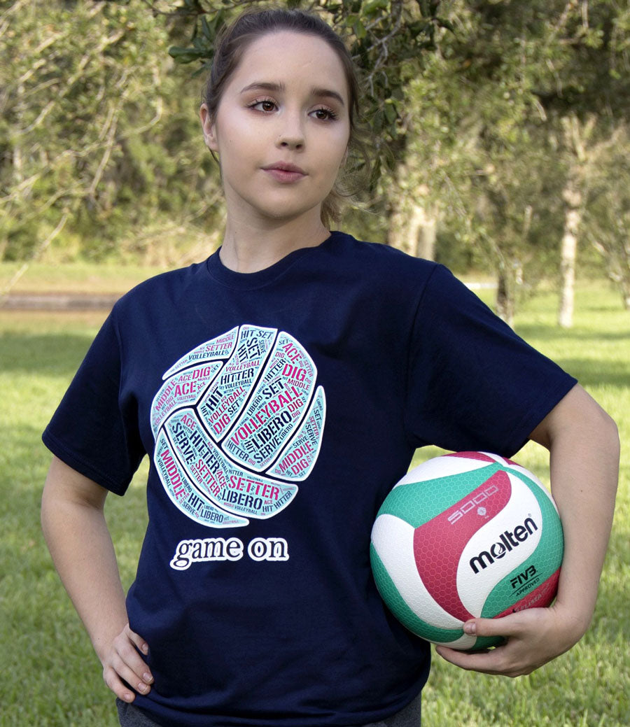 GAME ON Volleyball T-shirt