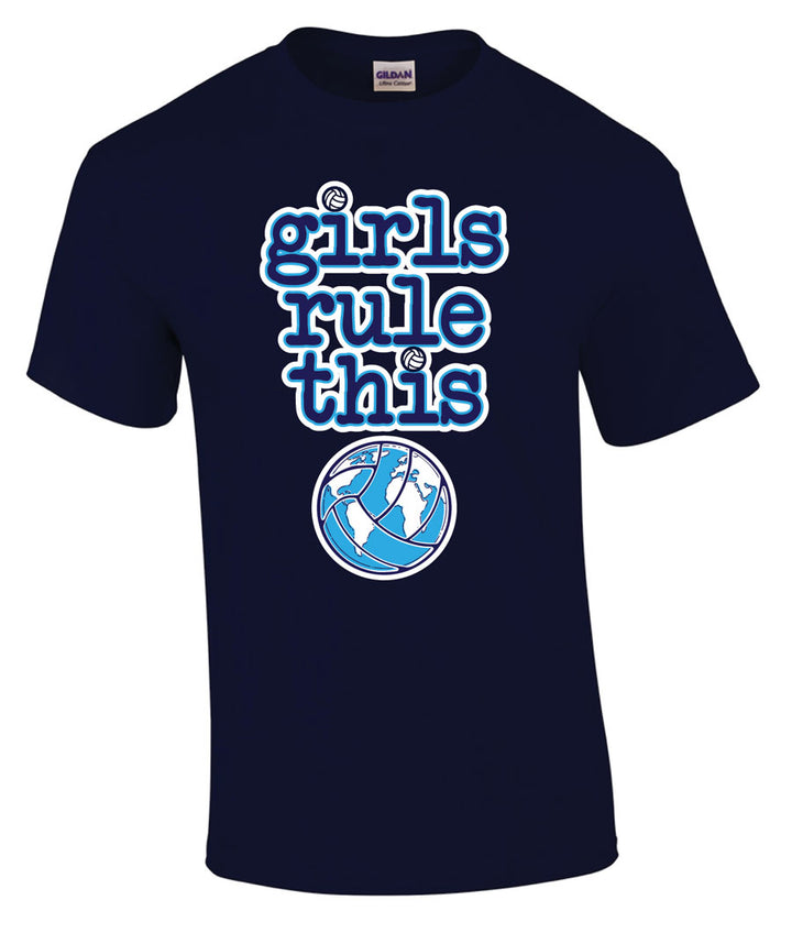 girls rule volleyball short sleeve shirt