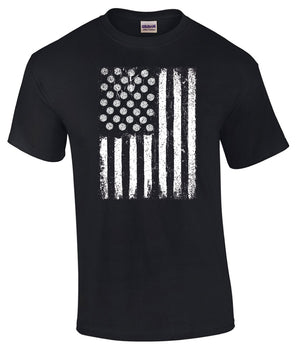 USA Volleyball Flag short sleeve tee in black