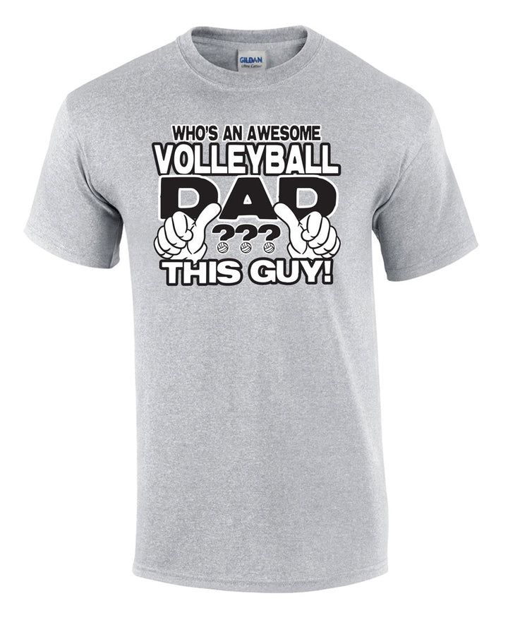 awesome volleyball dad short sleeve shirt