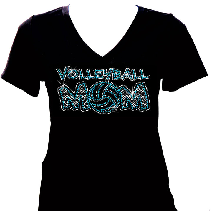 volleyball mom rhinestone shirt