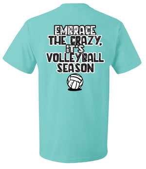 volleyball mom shirt embrace the crazy volleyball season