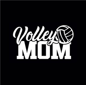 Volley Mom car window decal