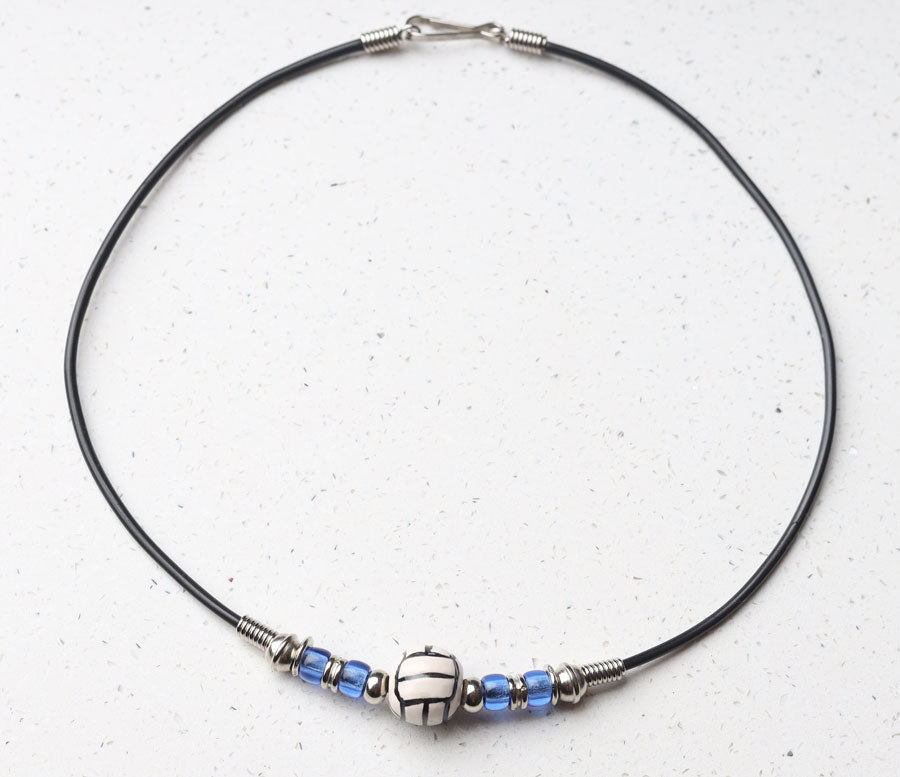 Royal Blue team color volleyball necklace