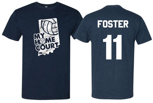 volleyball my home court indiana short sleeve tee