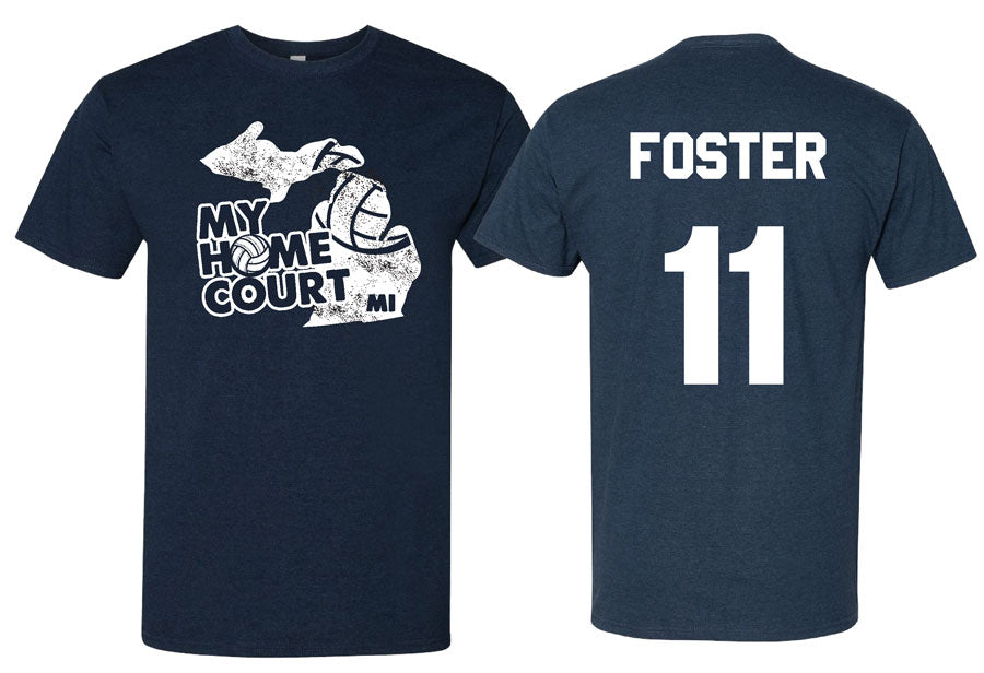 volleyball my home court michigan short sleeve tee
