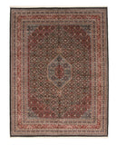 Hand-knotted Wool Black Traditional Geometric Bidjar Rug