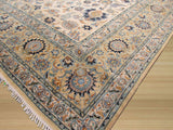 Beige Traditional Persian Kashan Rug, 10'7 x 14'4