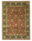 Hand-knotted Wool Red Traditional Oriental Jaipur Rug (9' x 12'2)