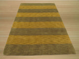 Green Transitional Stripe Rug