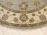 Hand-knotted Wool Gray Traditional Oriental Agra Rug