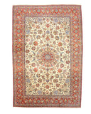 Hand-knotted Wool Ivory Traditional Oriental Najafabad Rug (10'3 x 15'1)