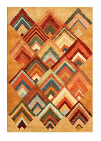 Hand-knotted Wool Contemporary Abstract Montana Rug
