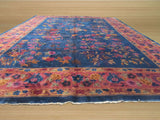 Blue Traditional Antique Chinese Feti Rug, 11'11 x 17'5