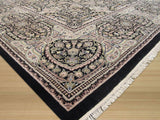 Black Transitional Pak-Modern Rug, 9'1 x 12'4