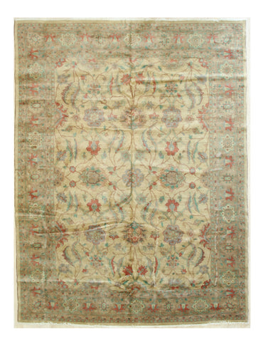 Beige/pink Hand-knotted Wool Traditional Peshawar Rug