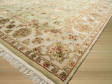 Green Traditional Flower Jaipur Rug