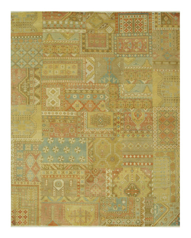 Hand-knotted Wool Traditional Oriental Patch Agra Rug (7'11 x 9'10)