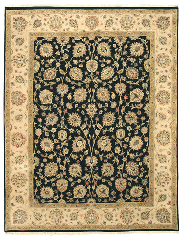 Hand-knotted Wool Black Traditional Oriental Romance Rug