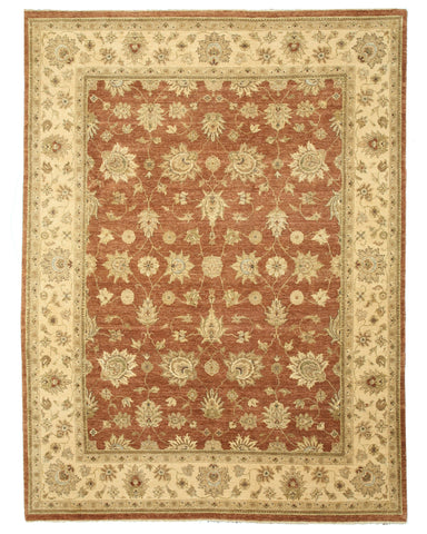 Hand-knotted Wool Rust Traditional Oriental Jaipur Rug (9' x 11'11)