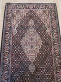 Black Hand-knotted Wool Traditional Oriental Mahi Rug