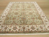 Green Traditional Jaipur Rug, 8'1 x 10'2