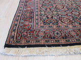 Navy/rust Hand-knotted Wool Traditional Oriental Herati Rug