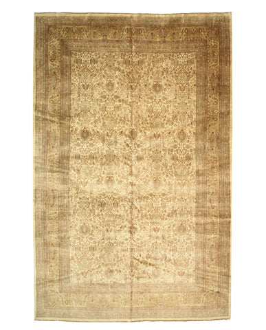 Hand-knotted Wool Ivory Traditional Oriental Sarouk Rug (11'4 x 17'8)
