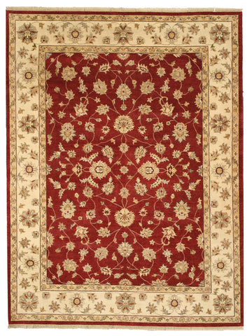 Hand-knotted Wool Red Traditional Oriental Agra Rug