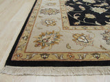 Black Traditional Agra Rug, 8'3 x 9'9