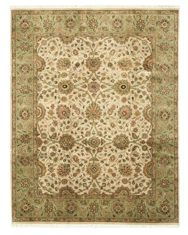 Hand-knotted Wool Ivory Traditional Oriental Jaipur Rug (7'11 x 10')