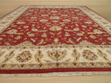 Red Traditional Agra Rug, 12' x 15'3