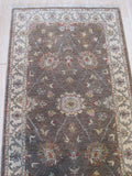 Brown Hand-knotted Wool Traditional Agra Rug