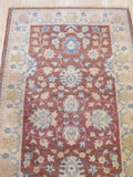 Rust/gold Hand-knotted Wool Traditional Oriental Agra Rug