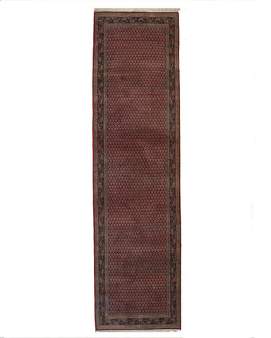 Hand-knotted Wool Red Traditional Oriental Mir Rug
