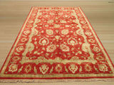 Red Traditional Agra Rug, 5'8 x 9'