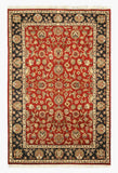 Hand-knotted Wool Red Traditional Oriental Jaipur Rug