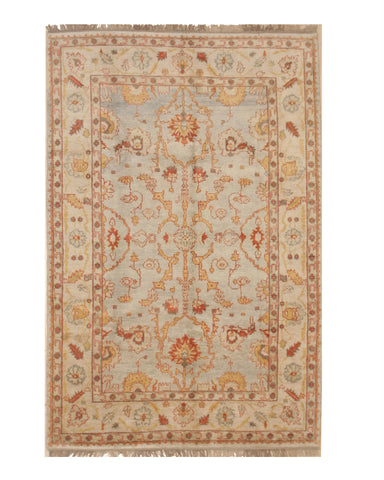 Blue Traditional Oushak Rug, 6'7 x 9'10