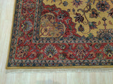 Gold Traditional Medallion Mahal Rug, 9'7 x 13'11