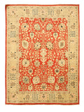 Hand-knotted Wool Red Traditional Oriental Peshawar Rug