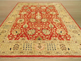 Red Traditional Peshawar Rug