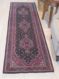 Green/pink Hand-knotted Wool Traditional Bidjar Rug