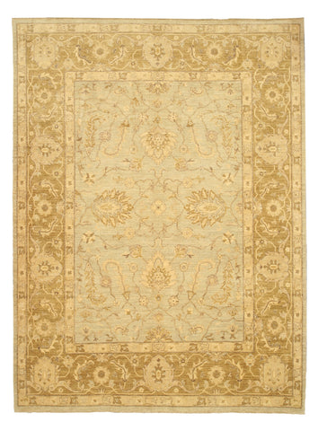 Hand-knotted Wool Gray Traditional Oriental Peshawar Rug
