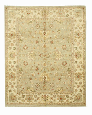 Hand-knotted Wool Gray Traditional Oriental Peshawar Rug (8' x 9'9)