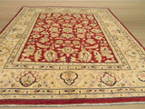 Red Traditional Peshawar Rug, 8' x 9'7