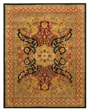 Hand-tufted Wool Black Transitional Oriental Polonaise Rug